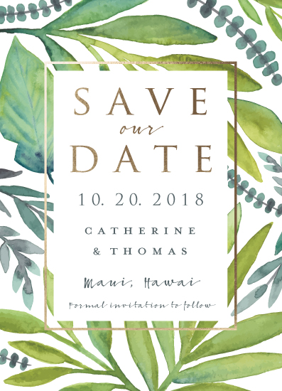 save the date cards - Island Dreams by Petra Kern