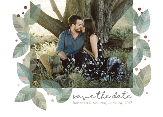 save the date cards - Forest Leaves by Katarina Berg