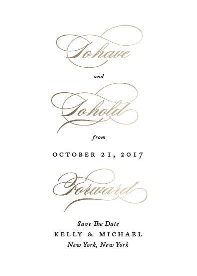 save the date cards - Have and Hold by Kimberly FitzSimons