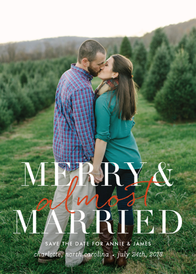 save the date cards - merry and almost married by Sara Hicks Malone