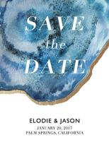 Agate Save the Date by Ashley Purser