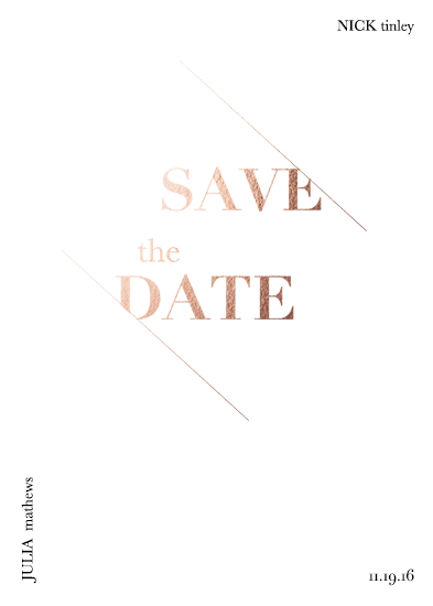 save the date cards - Modern Typography by Ashley Purser