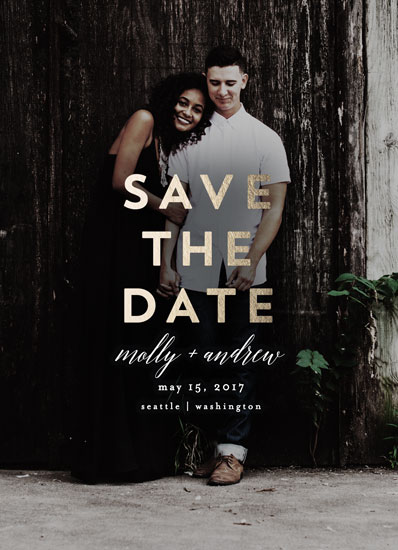 save the date cards - Foil Overlay by AK Graphics