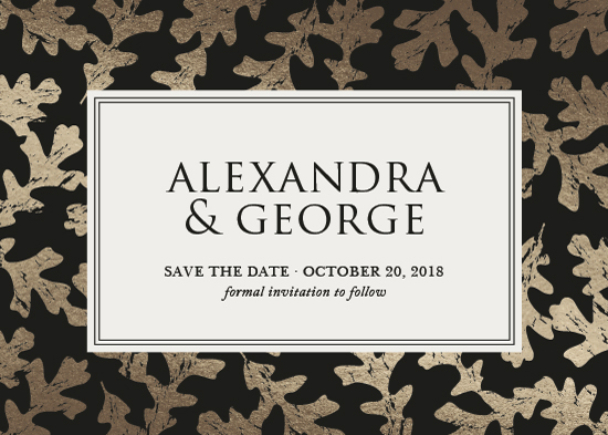 save the date cards - Elegant Autumn by Melissa Casey
