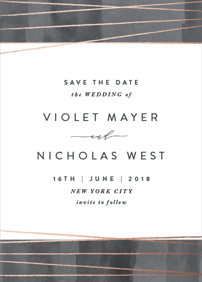 save the date cards - Geo Chic by Hooray Creative