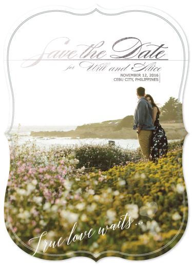 save the date cards - True love waits by Jeandilou Cimafranca