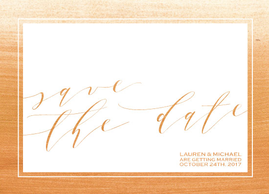 save the date cards - Gold Paint Background by Ink Topiary