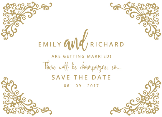 save the date cards - Lace ends by Zani