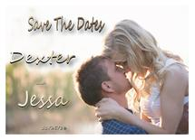 Save the date gold by dexter