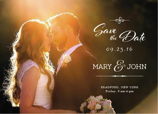 save the date cards - Save the Date Card dark BG by Khevin Roa