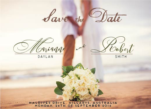 save the date cards - A touch of a shore by Rhea Jane Baricuatro