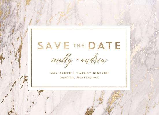 save the date cards - Marble Matrimony by AK Graphics