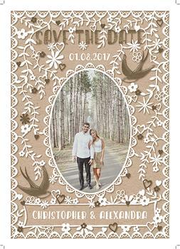 love birds & foliage - save the date
