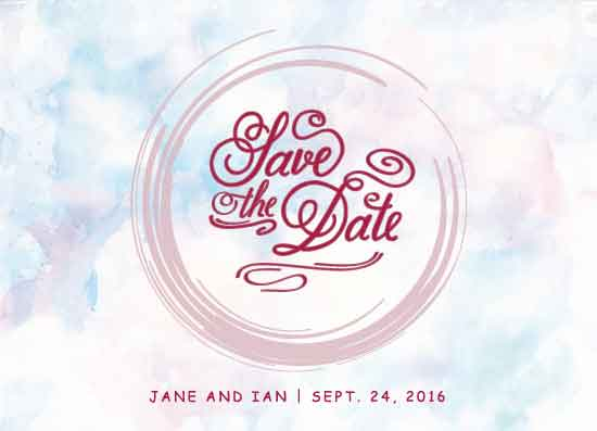 save the date cards - RedDate by Adrian Remedio