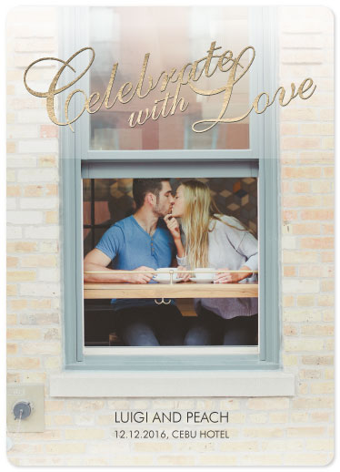 save the date cards - Window of Love by Maverick Sausa