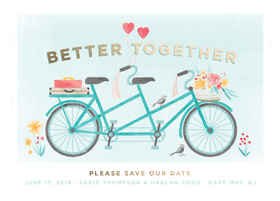 save the date cards - In Tandem by Laura Moyer