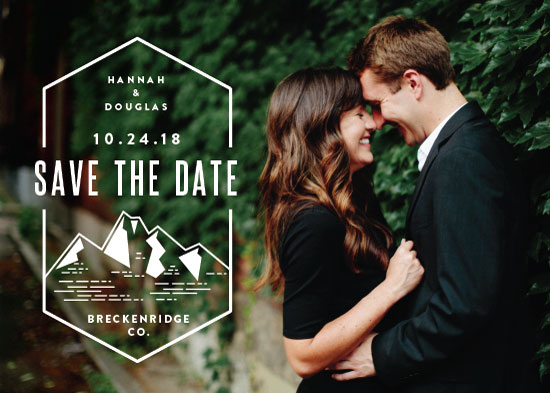 save the date cards - Modern Rusticism by Jessica Ogden