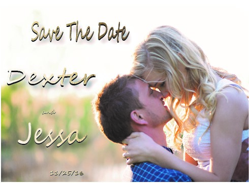 save the date cards - sweet love like a percious gold by dexter