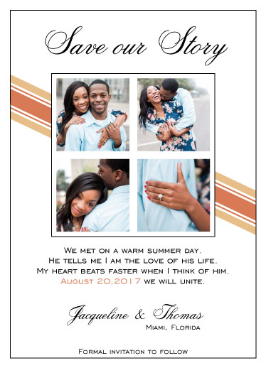 save the date cards - Our Story by Cindy Jost