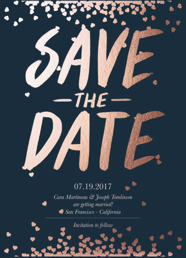 save the date cards - Blissful Hearts by Fernanda Arias