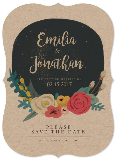 save the date cards - Evening Flower by Fernanda Arias