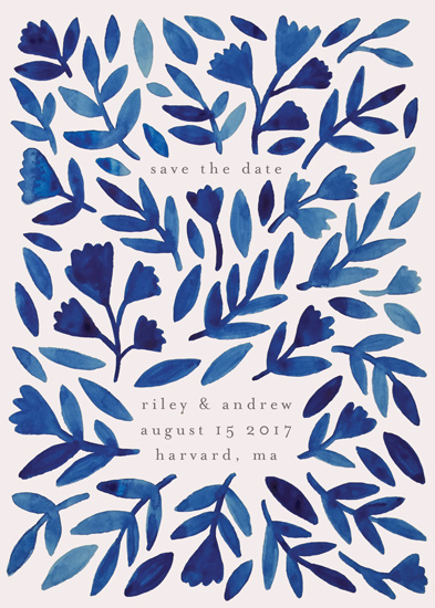 save the date cards - Wildflower Floral by Katharine Watson