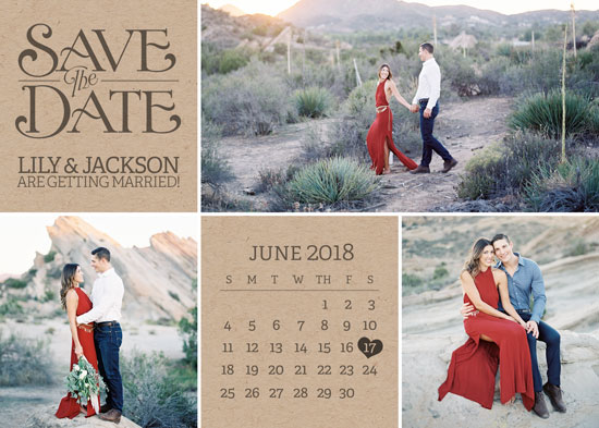 save the date cards - Kraft Collage by Viper Paper Co.
