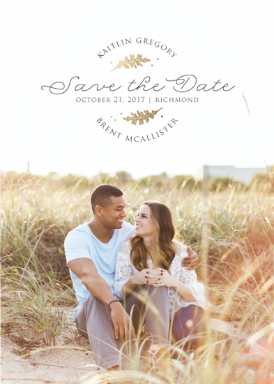 save the date cards - Fall Foliage by Lorent and Leif