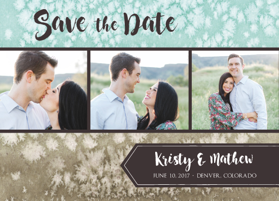 save the date cards - Salted Watercolor Trio by Amanda Ansel