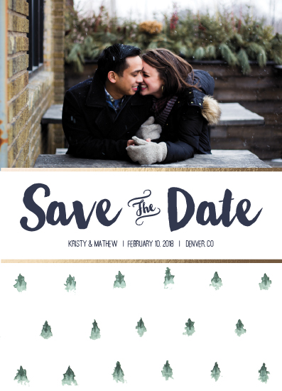 save the date cards - Misty Hillside Trees Engagement by Amanda Ansel