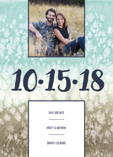 save the date cards - Large Date Watercolor Announcement by Amanda Ansel