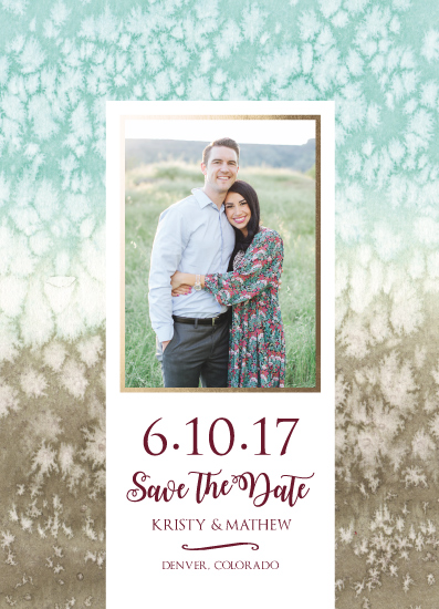 save the date cards - Whimsical Salted Watercolor by Amanda Ansel