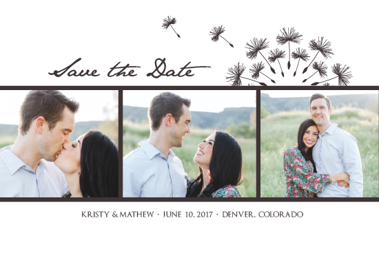 save the date cards - Seeds of Love by Amanda Ansel