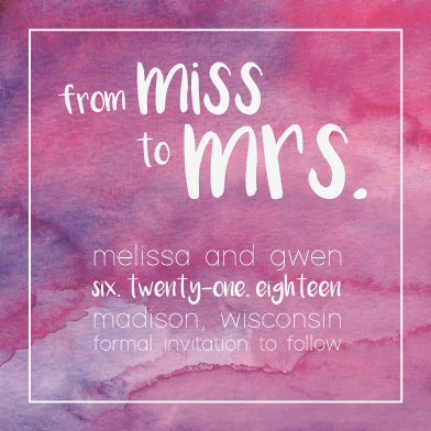 save the date cards - Miss to Mrs. by Sammi Linder
