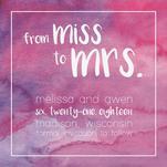Miss to Mrs. by Sammi Linder