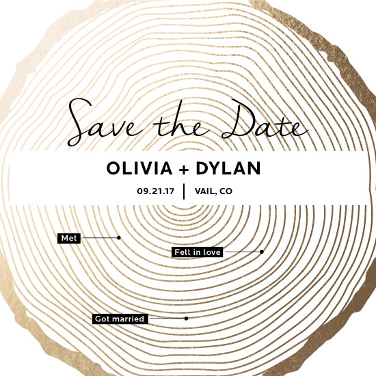 save the date cards - Timeline of love by Molly Holland