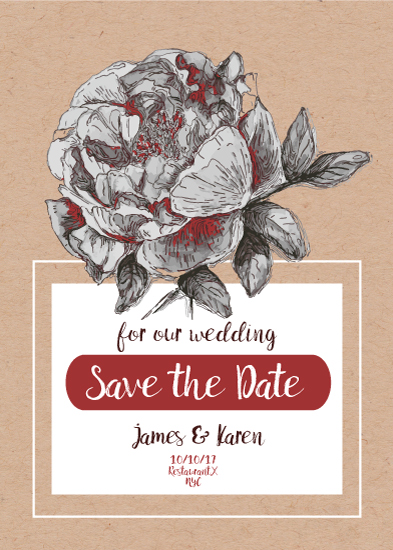 save the date cards - sensual flower by Kristina Me