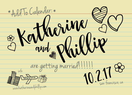 save the date cards - Write This Down! by Sarah Tarantino