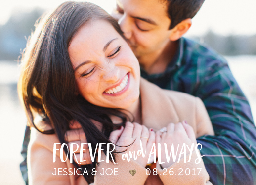save the date cards - Forever and Always... by Janice Lynne