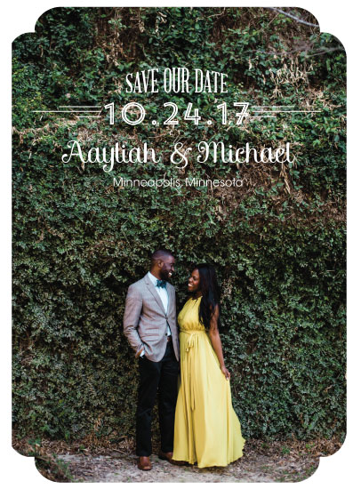save the date cards - Classic Lines by Amanda Zoss