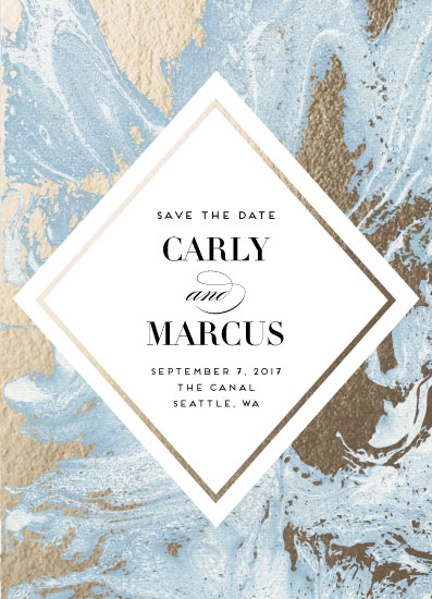 save the date cards - Marbled by Pine and Lark