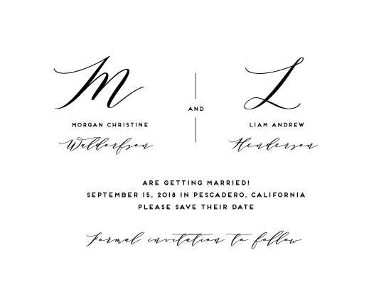 save the date cards - Elegant Monogram by Simona Camp