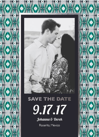 save the date cards - Tie-dye Aztec Dreams by Amber Myers