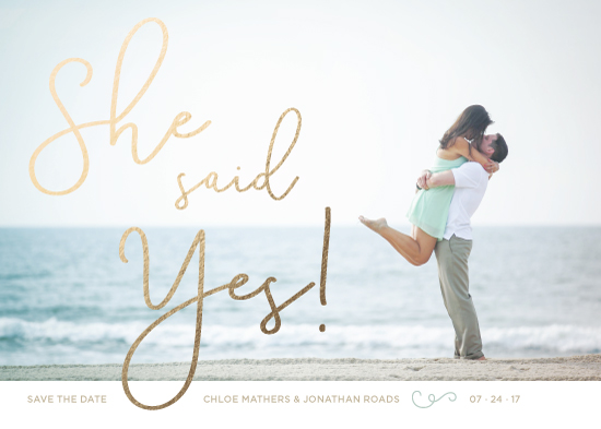 save the date cards - she said... by Moy Creative