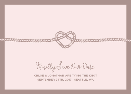 save the date cards - heart shaped by Moy Creative