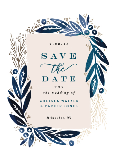 save the date cards - Leaf Frame by Alethea and Ruth