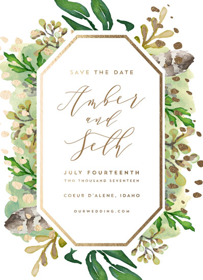 save the date cards - Bohemian Beauty by AK Graphics