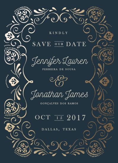 save the date cards - Sweet leaves by Ana de Sousa