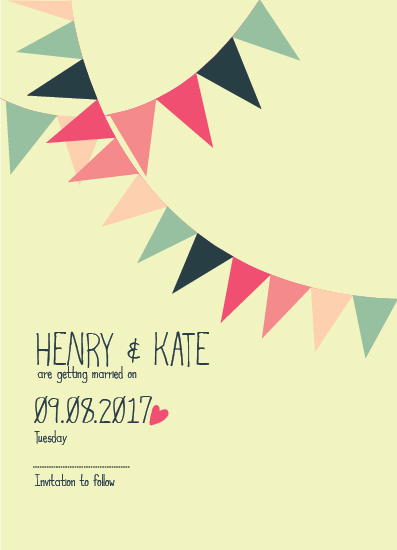 save the date cards - Party's on by Retroactive Studios