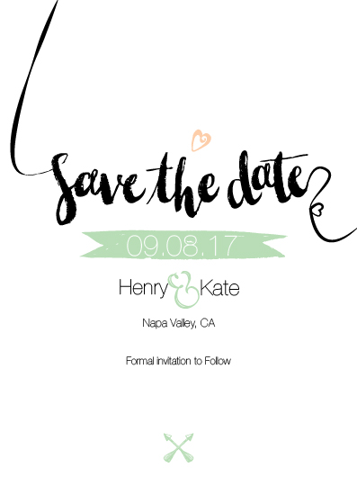 save the date cards - Henry&Kate by Retroactive Studios